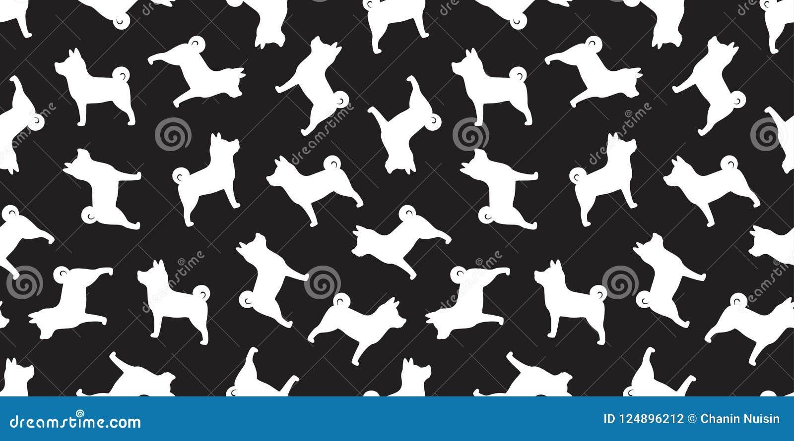 Dog Seamless French Bulldog Vector Pattern Isolated Wallpaper Doodle Background Cartoon Black Stock Illustration Illustration Of Bone Labrador 124896212