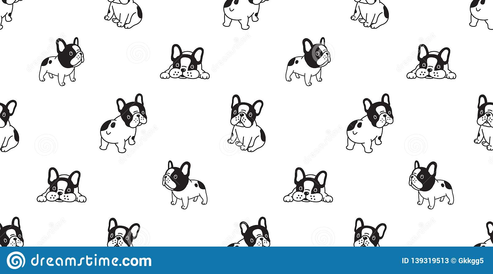 Dog Seamless Pattern French Bulldog Vector Scarf Isolated Cartoon Repeat Wallpaper Tile Background Illustration Stock Vector Illustration Of Puppy Graphic 139319513