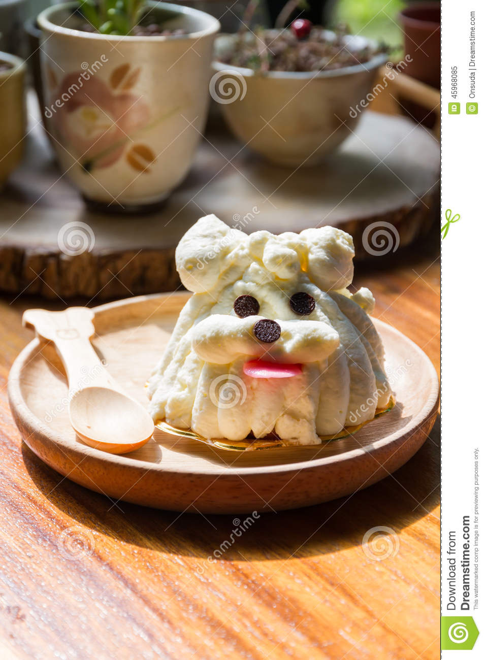 Dog Shape Cake Stock Image Image Of Birthday Decorate 45968085