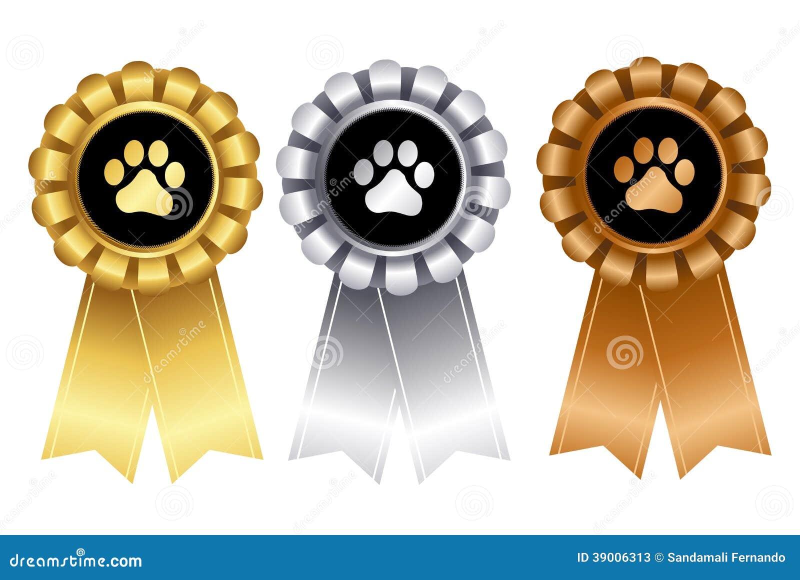 Dog Show Winner Ribbon Rosette Stock Vector - Illustration of