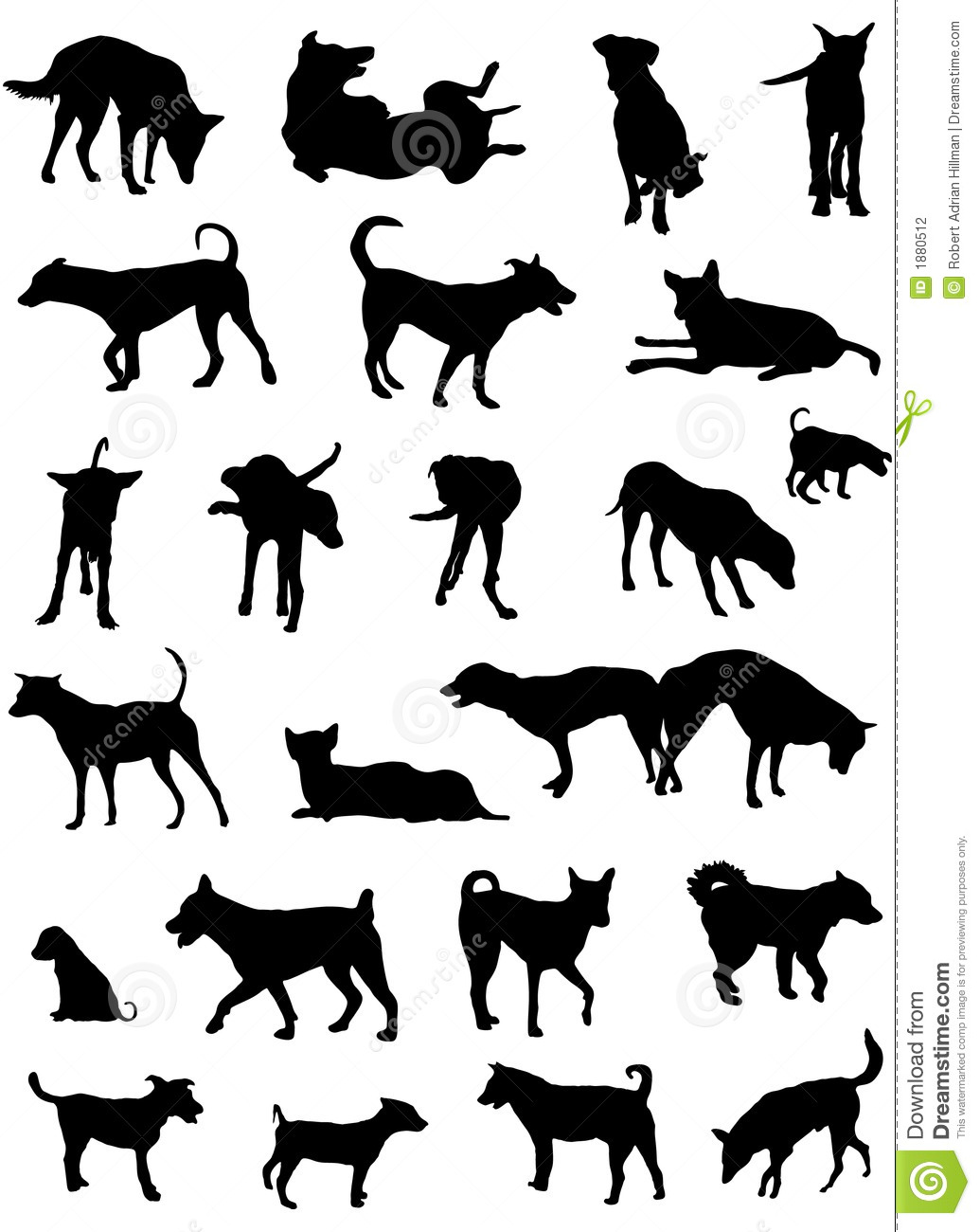 Boxer Dog Silhouette Clip Art Dog silhouettes stock ...