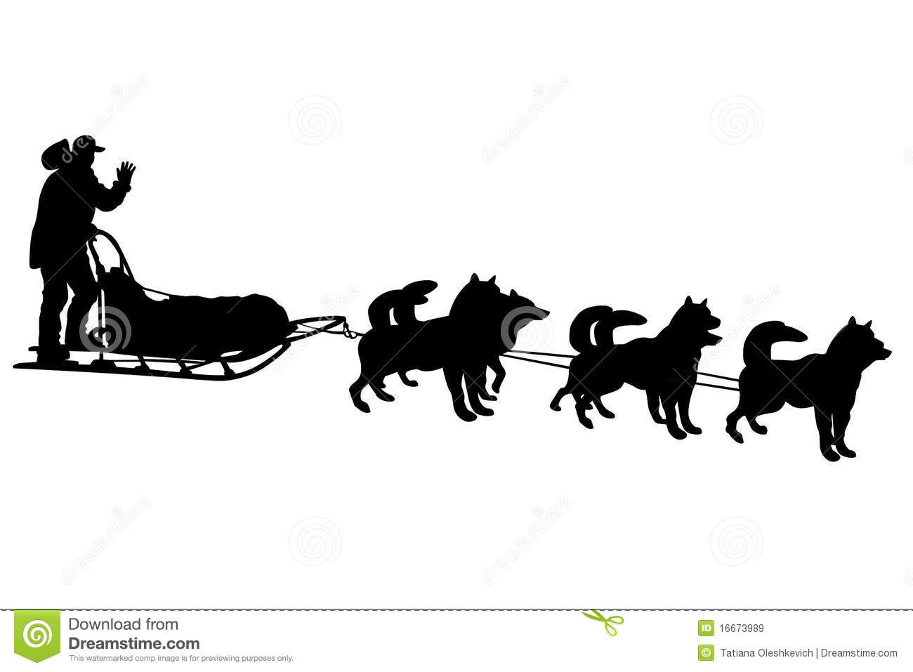 dog sled silhouettes stock illustration illustration of Printable Pictures of Santa Claus black and white clipart of santa claus