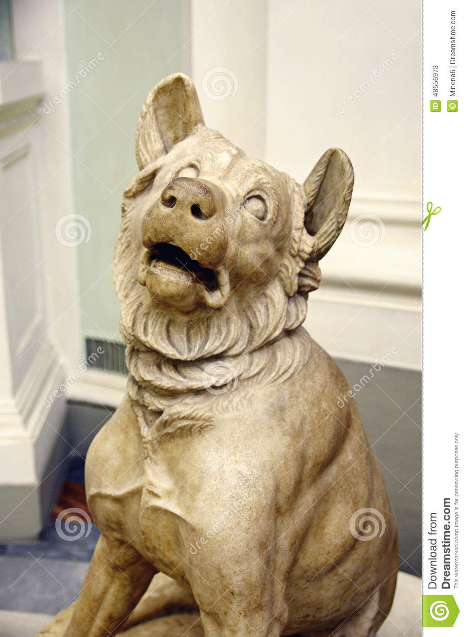 Dog Statue Stock Image Image Of Frustration Italy
