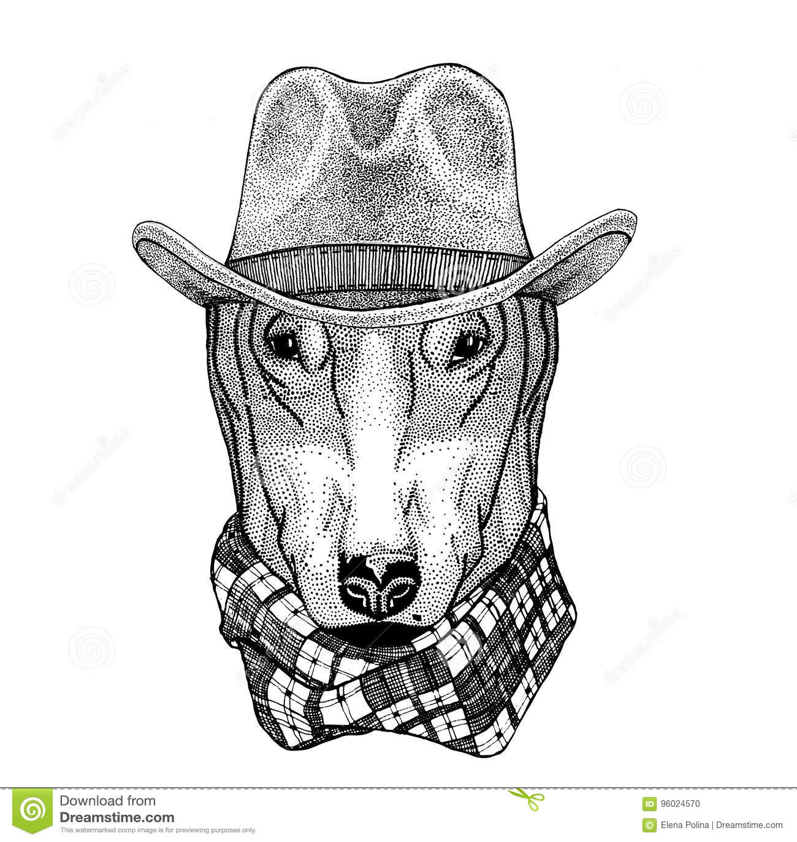 DOG for t-shirt design Wild animal wearing cowboy hat Wild west animal Cowboy animal T-shirt, poster, banner, badge