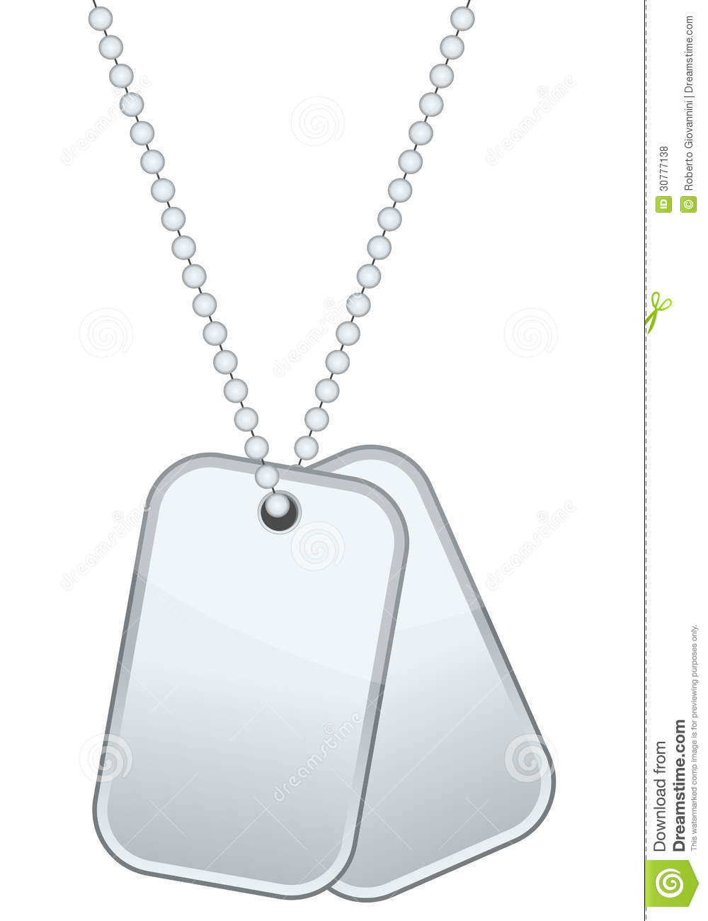 Dog Tags Drawing Dog tags or identity plates