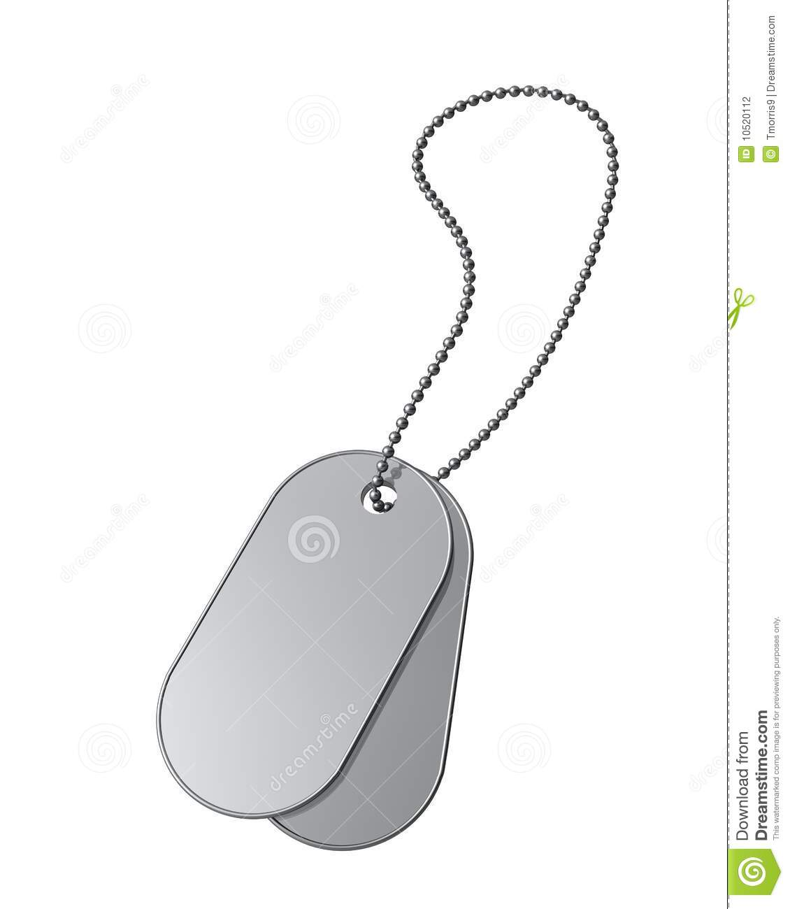 Dog Tags On White Stock Photography - Image: 10520112