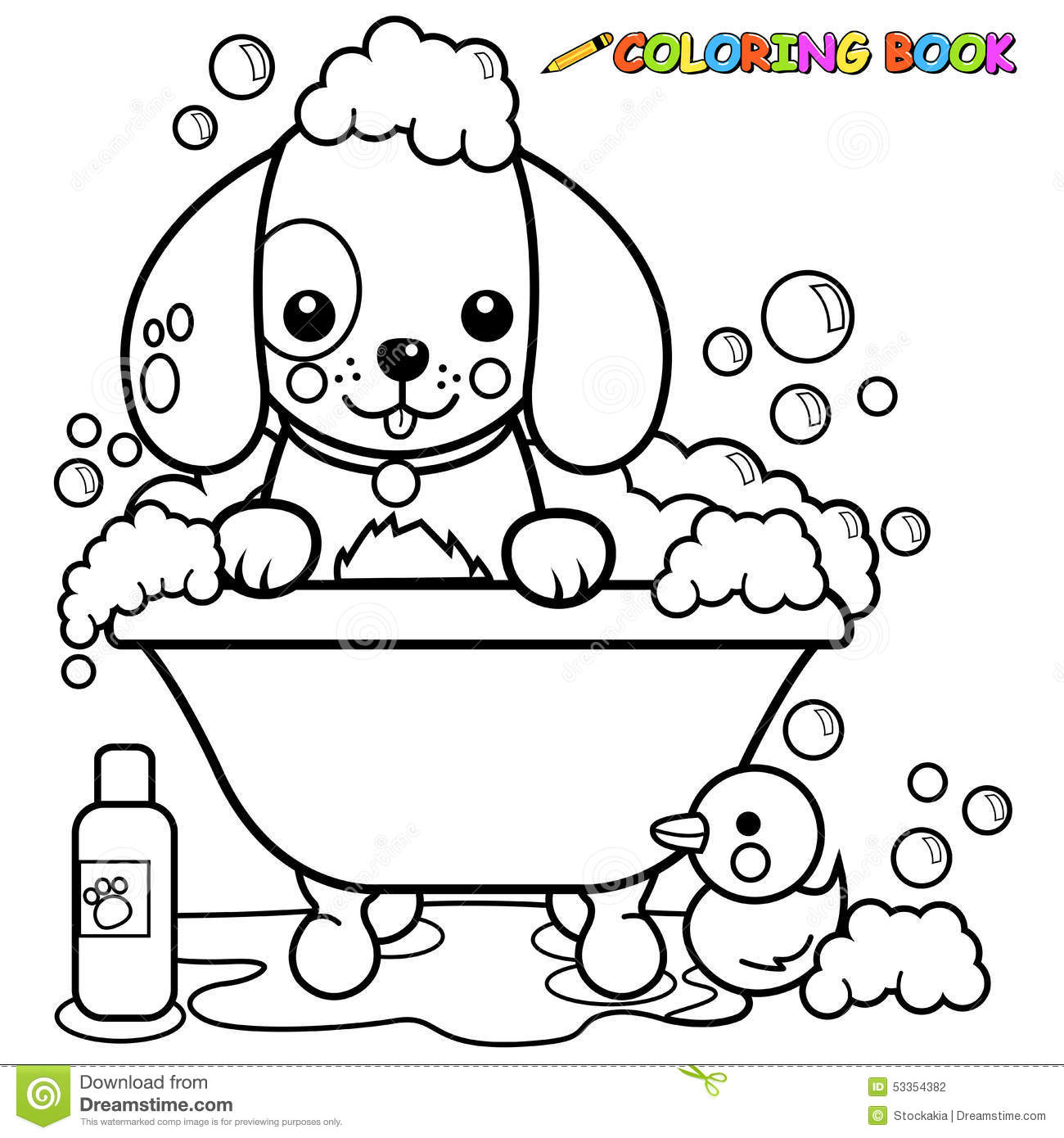 l bath time coloring pages - photo #16