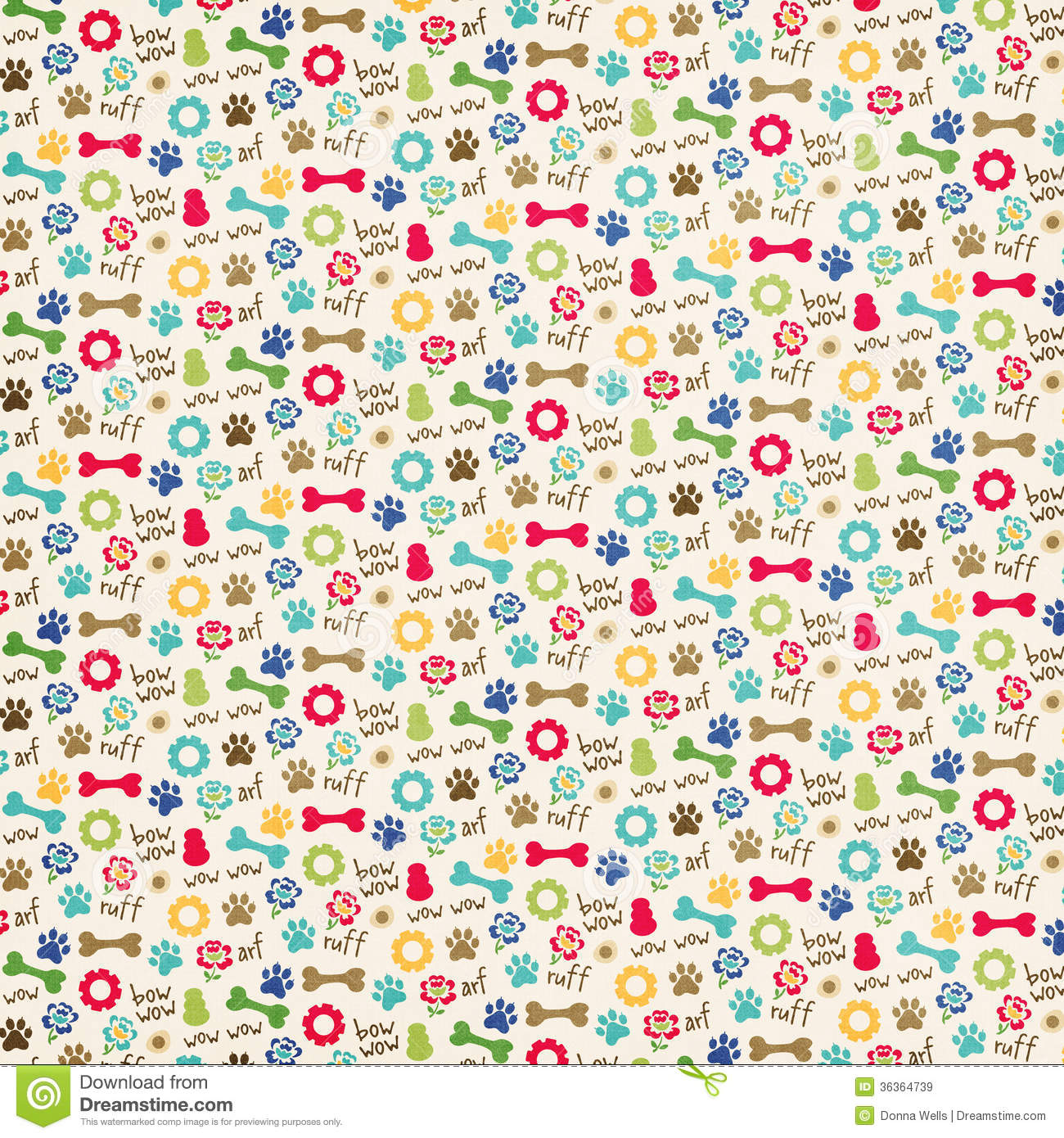 Dog-Themed Pattern Royalty Free Stock Images - Image: 36364739