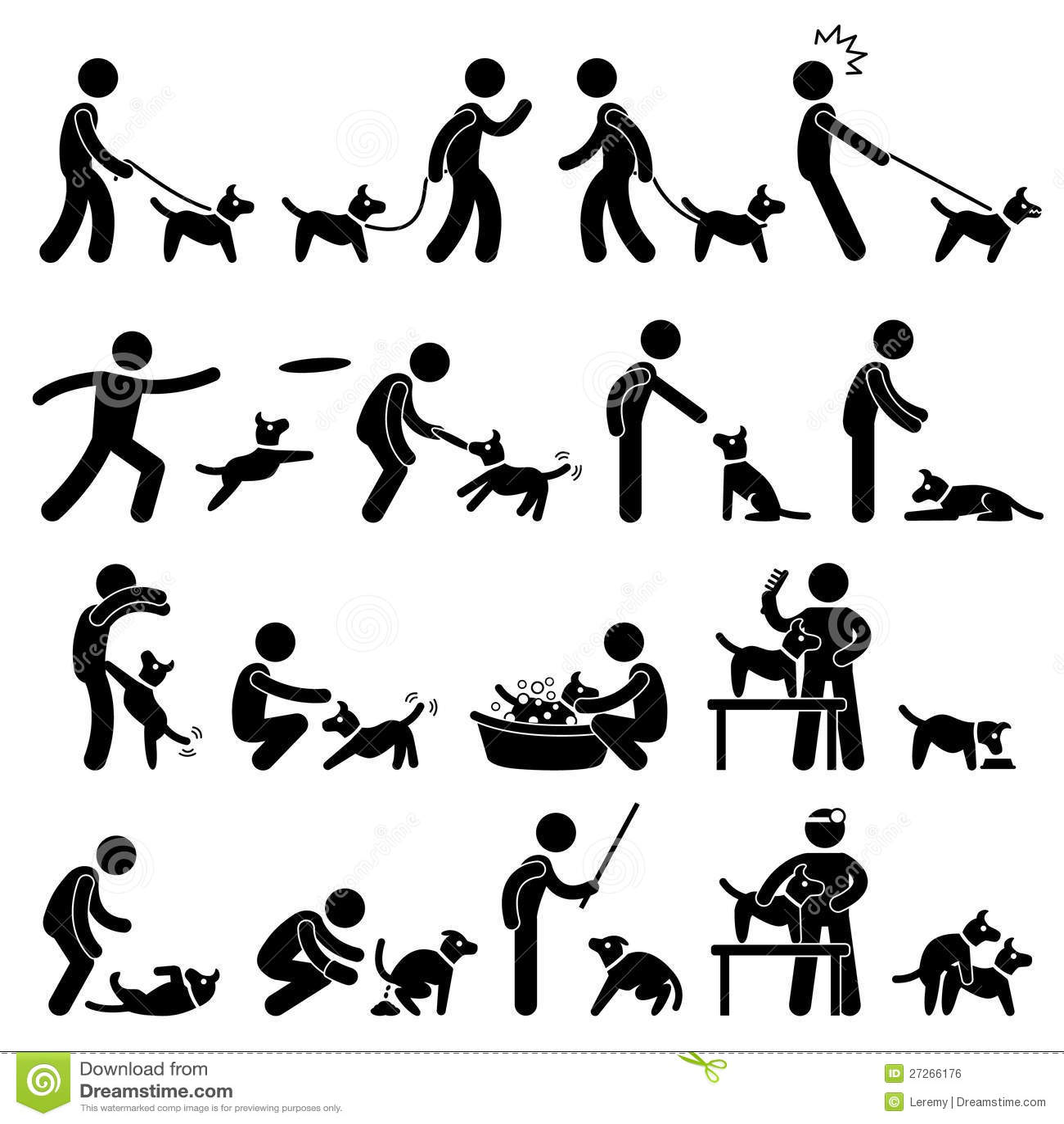 Dog Training Pictogram