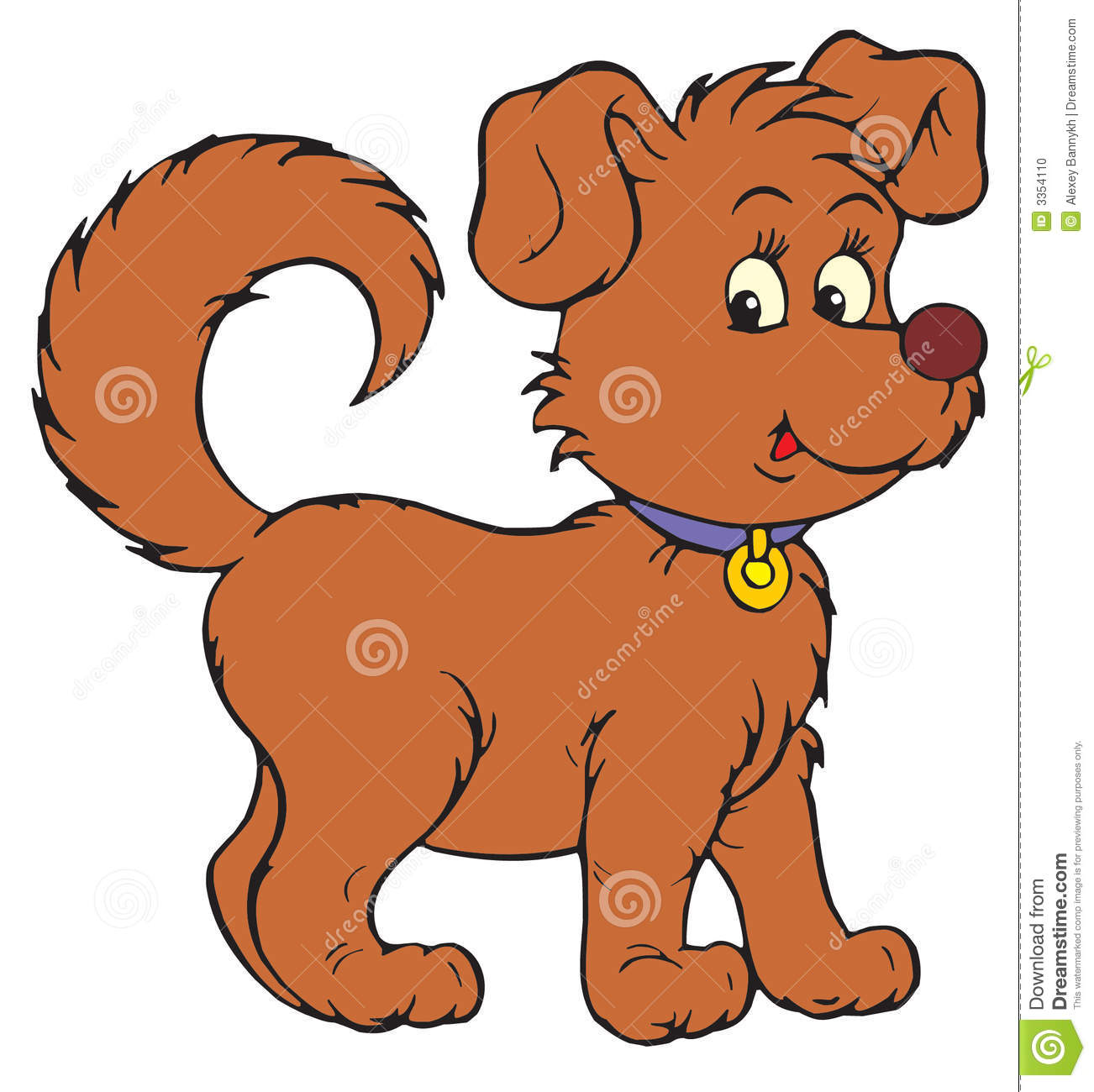 dog vector clip art stock vector illustration of game 3354110 rh dreamstime com clipart of a dog paw clipart of a dog barking