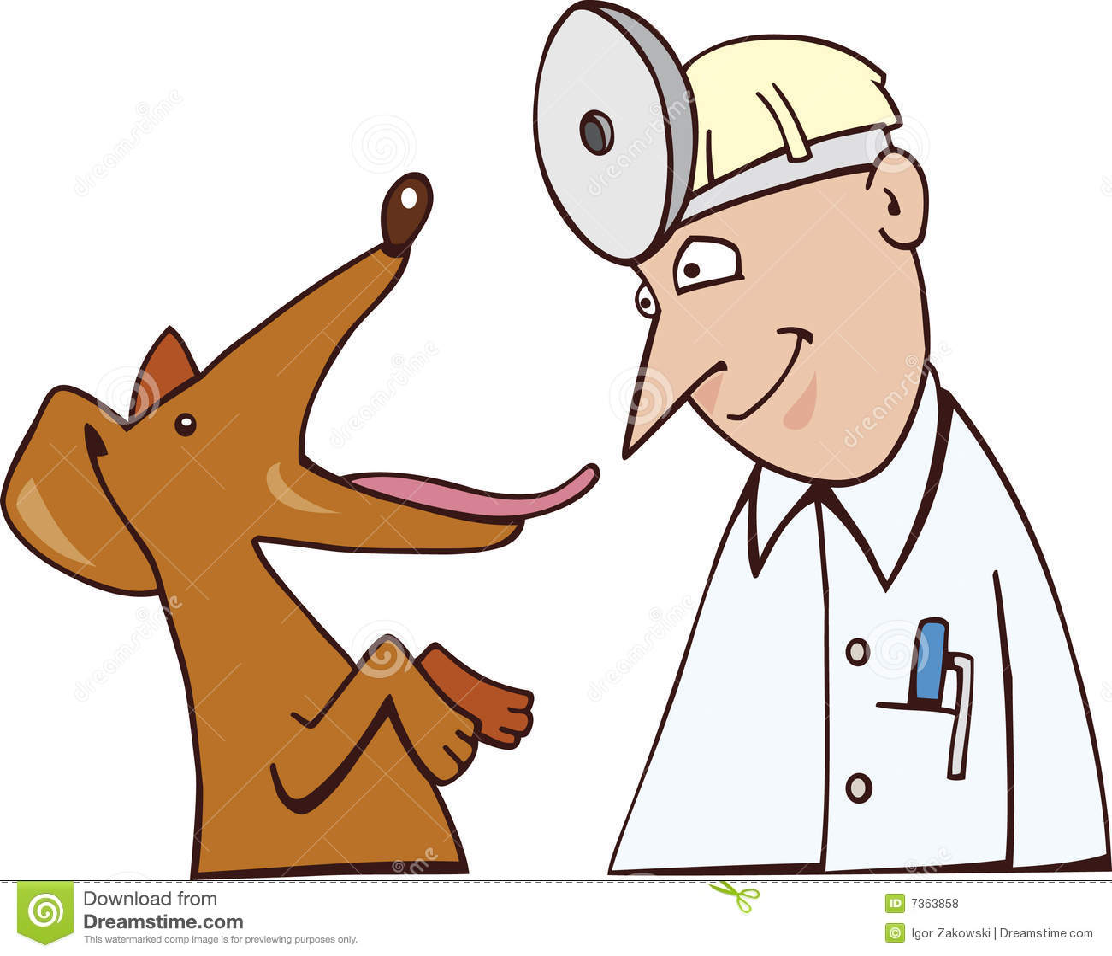 Dog and vet stock vector. Illustration of visit, chekup ...