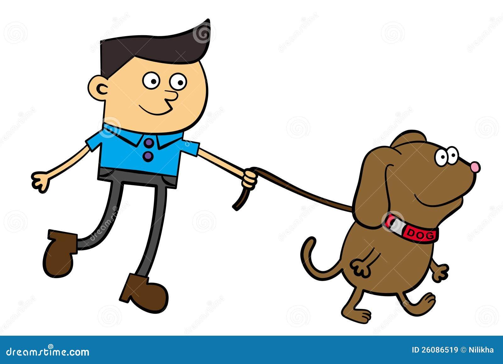 clipart girl walking dog - photo #45