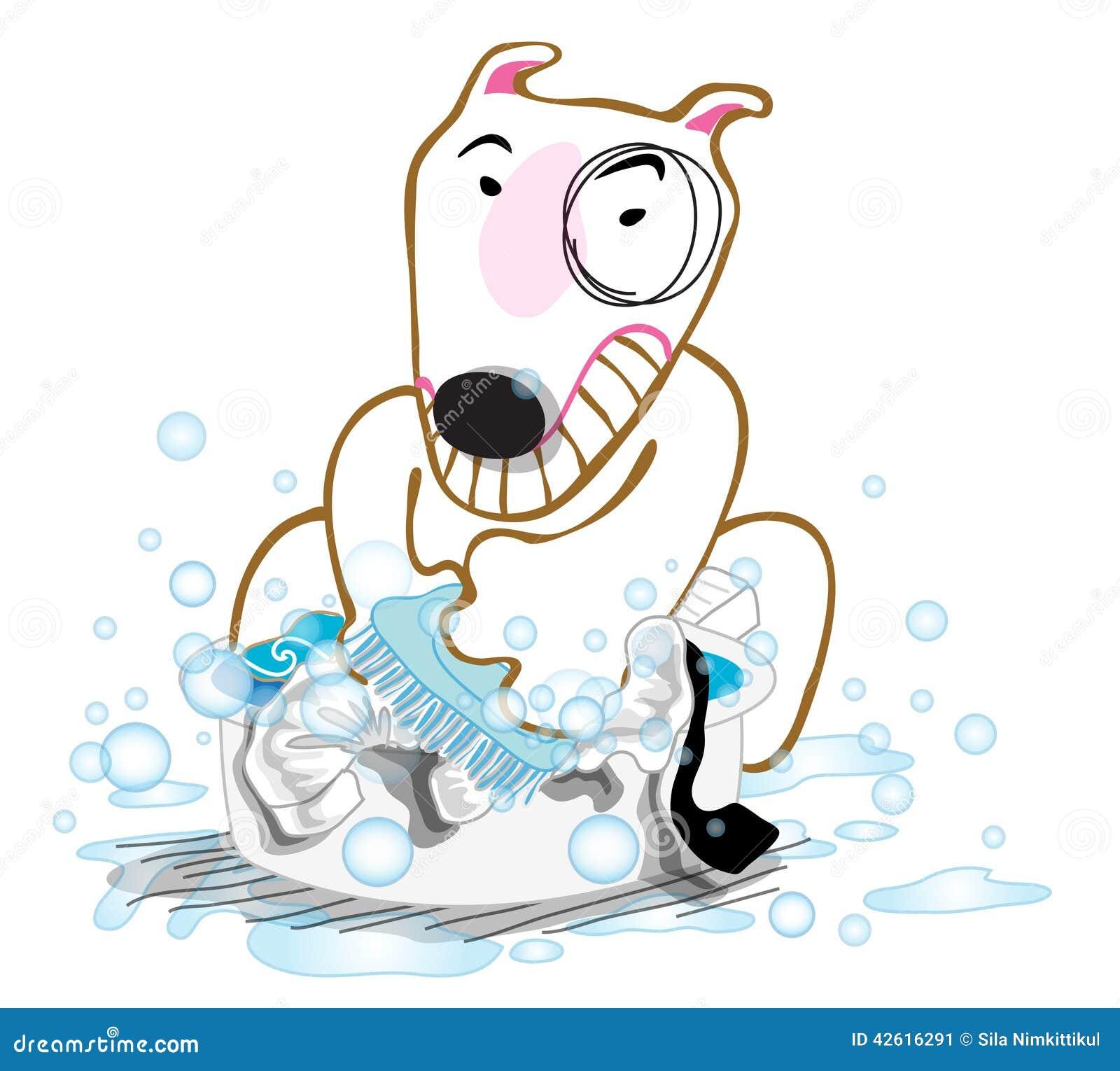 Dog Wash Cloth Stock Illustration - Image: 42616291