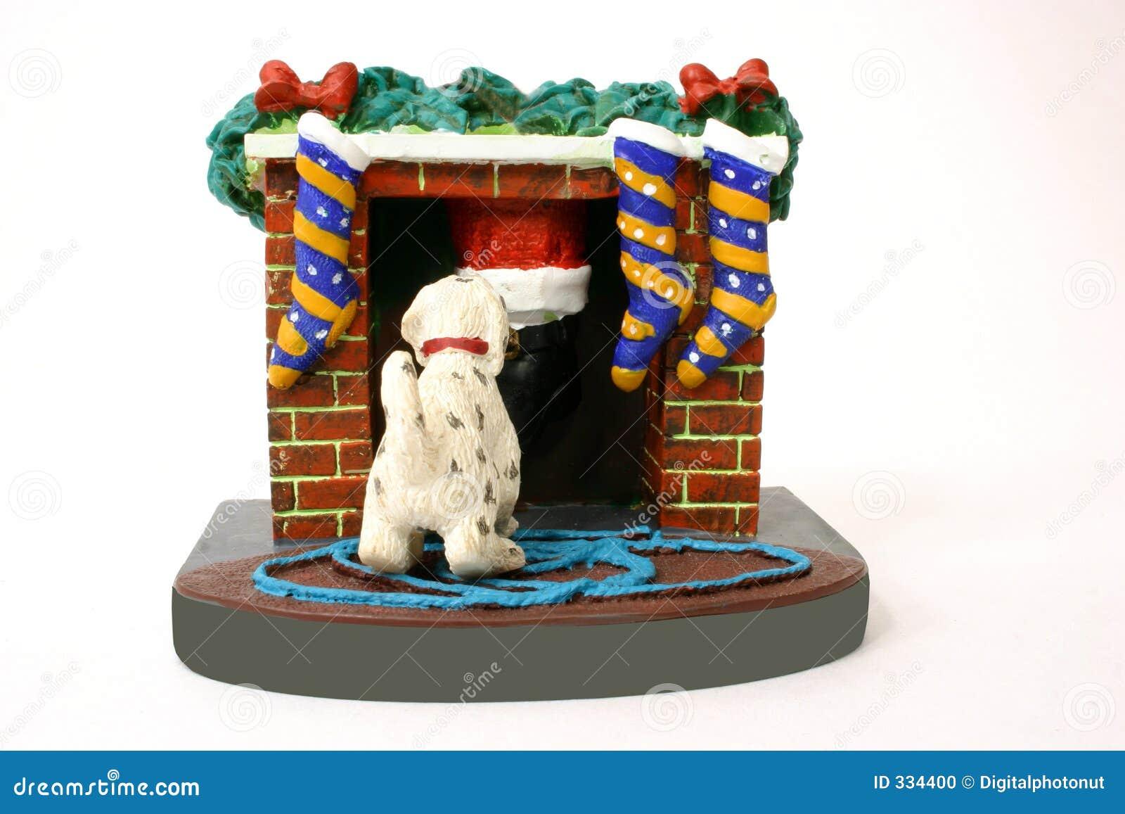 Dog Yanks Santa s Leg