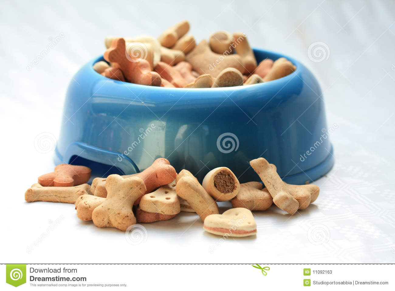 Dogbowl with cookies