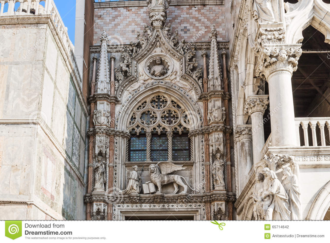 Venice Italy Architecture doges palace (palazzo ducale), venice, italy, architecture details