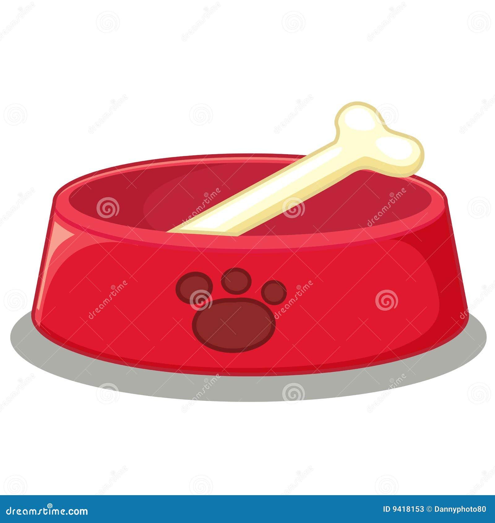 Dog Food Dish Vector Art
