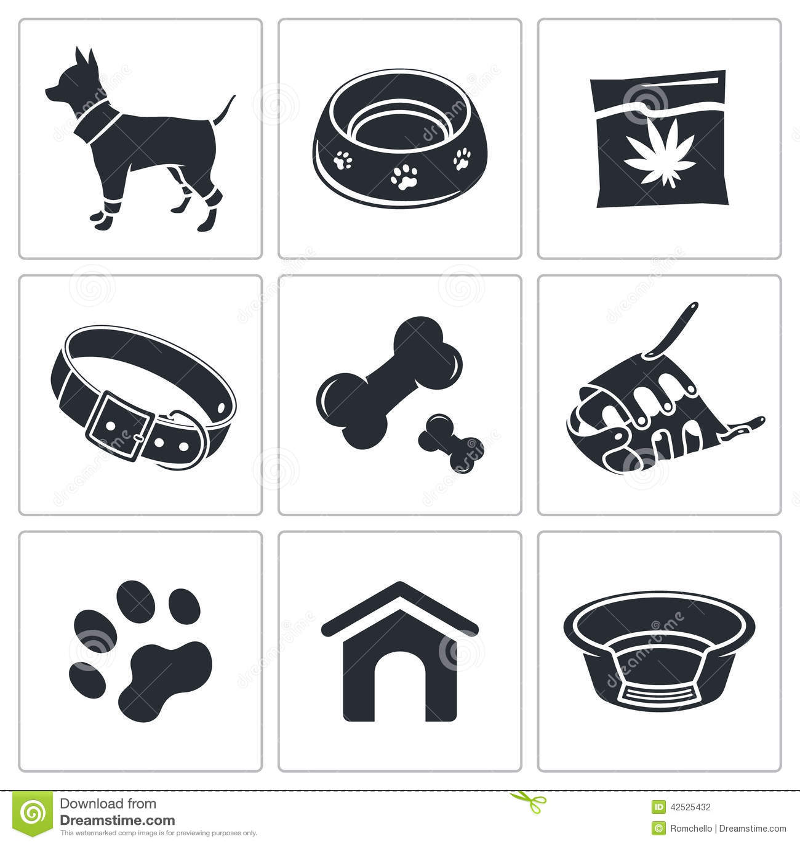 Doggy ikony kolekcja