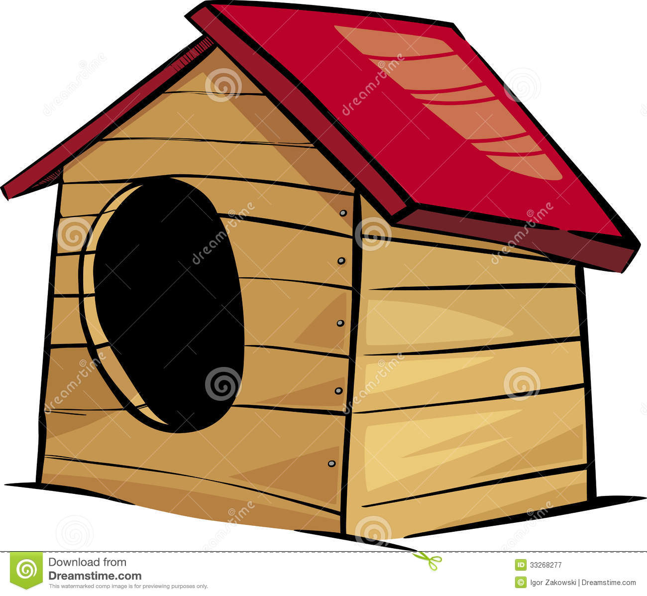 clipart of dog houses - photo #17