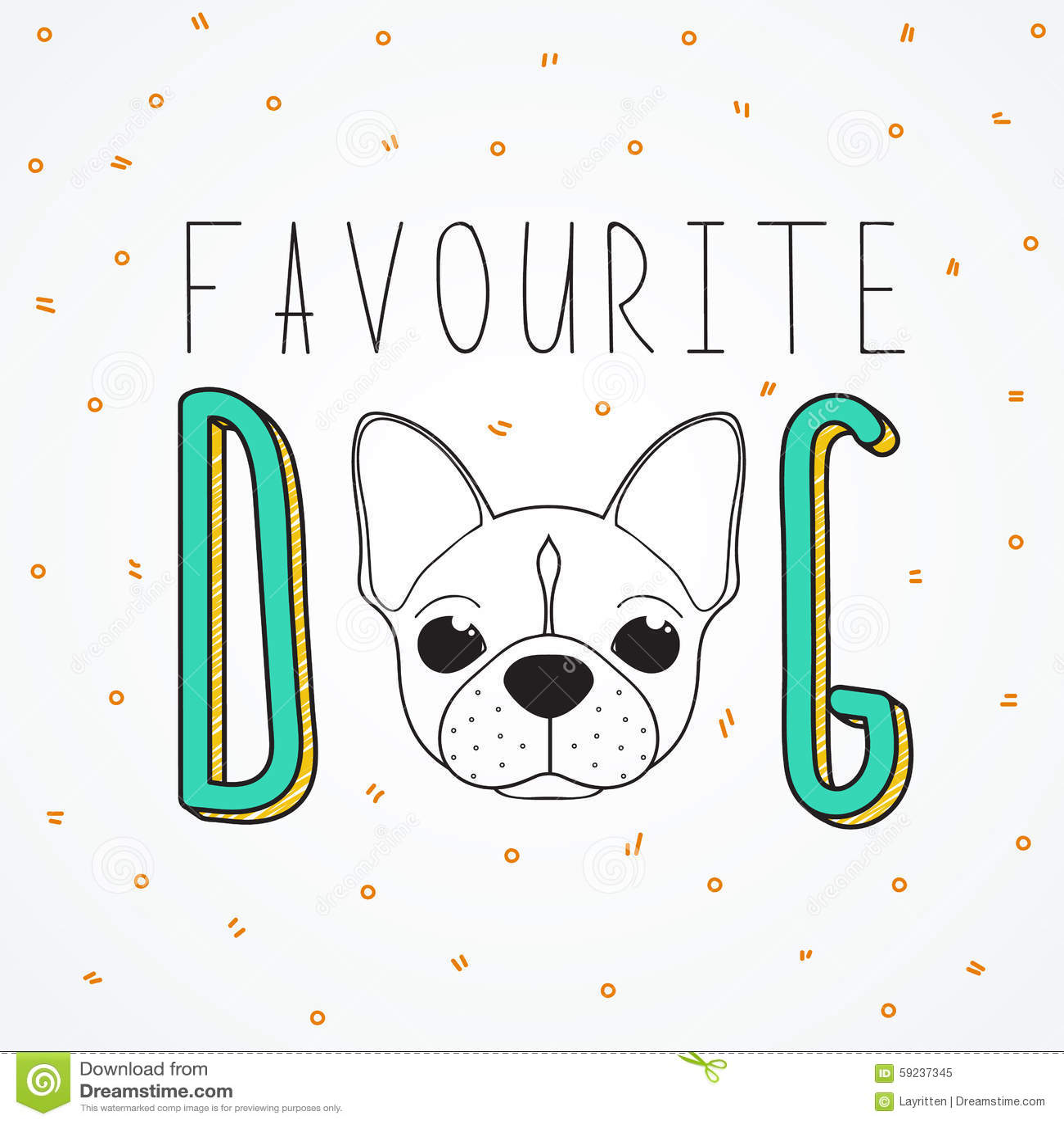 Dogo francés del fondo para el diseño y la decoración