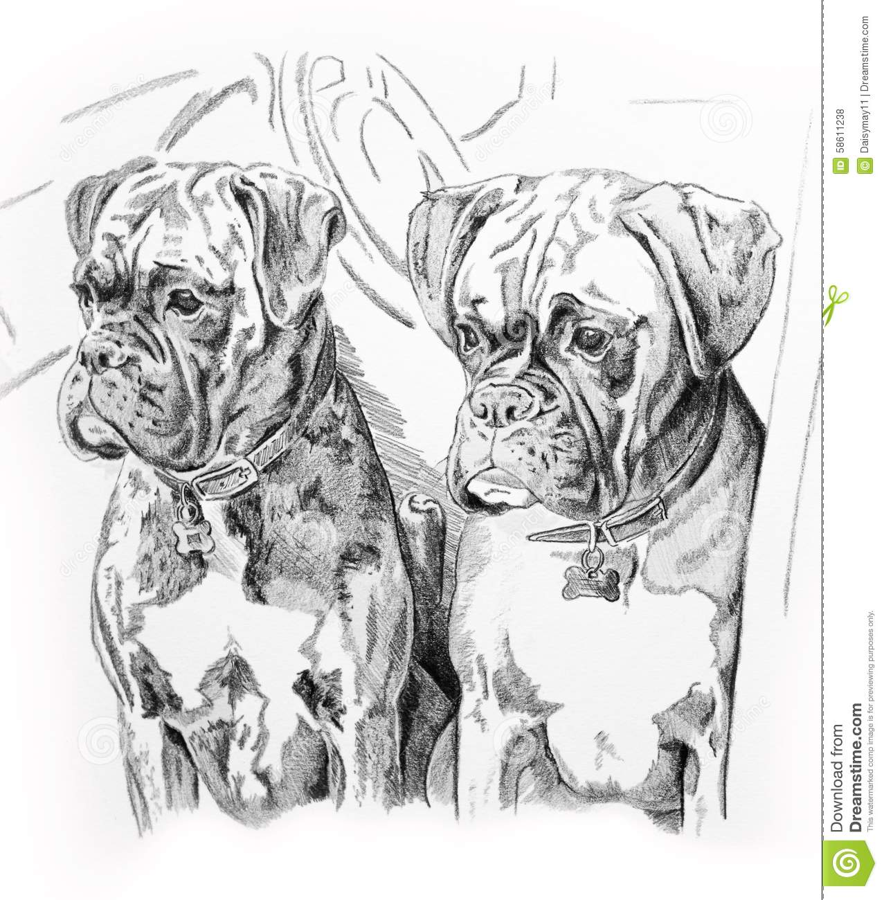 dogs in car stock illustration  illustration of pencil