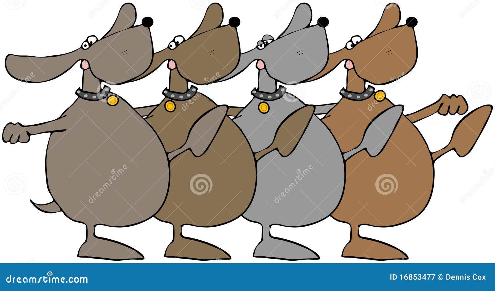 Dogs Dancing Stock Illustration Illustration Of Mutt 16853477
