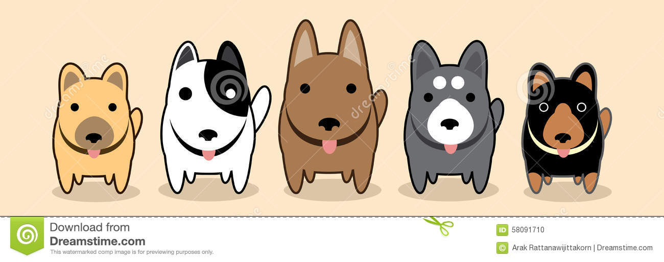 Dogs Gang Stock Vector Image 58091710