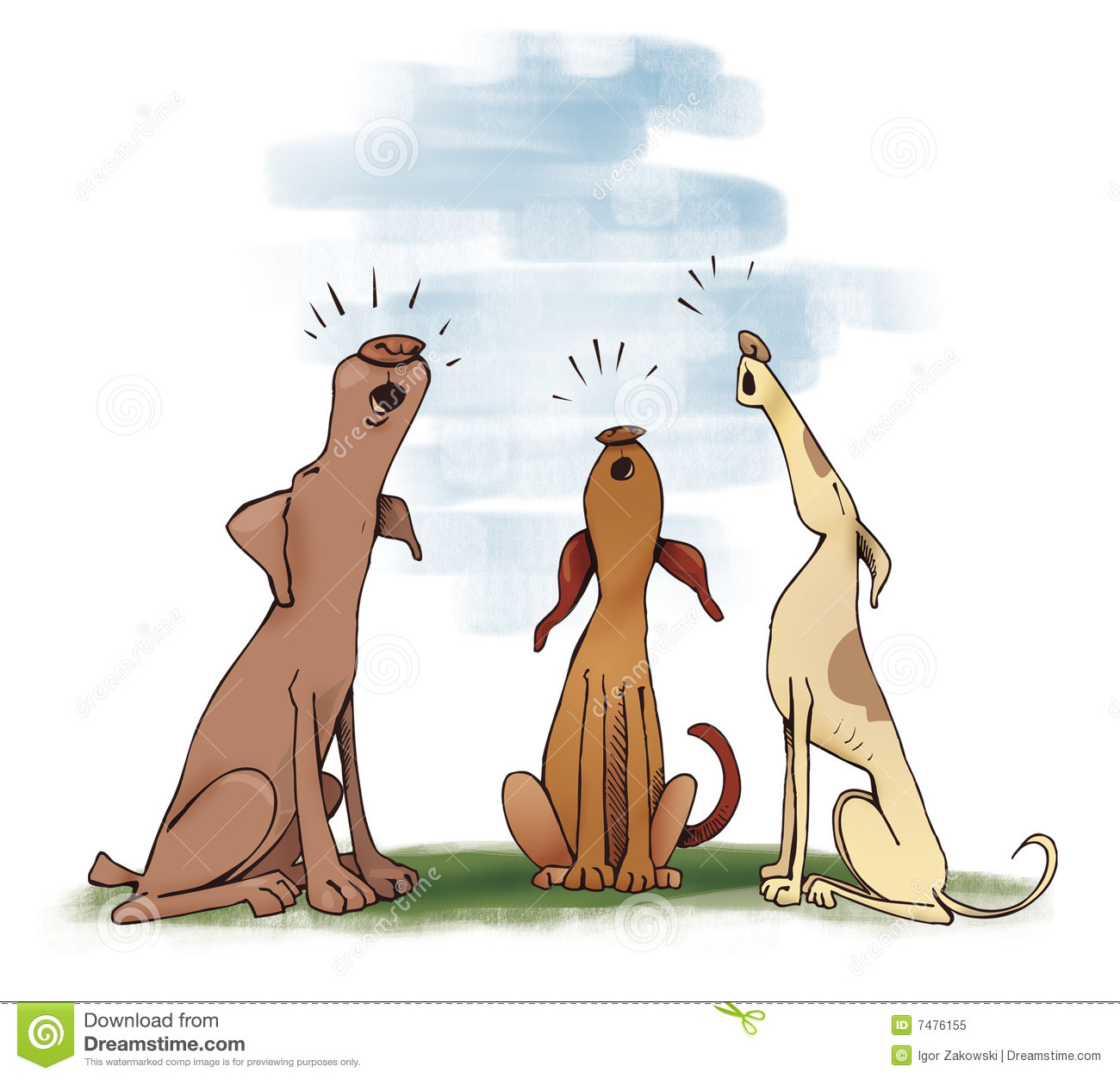 Dogs Howling Royalty Free Stock Photo - Image: 7476155
