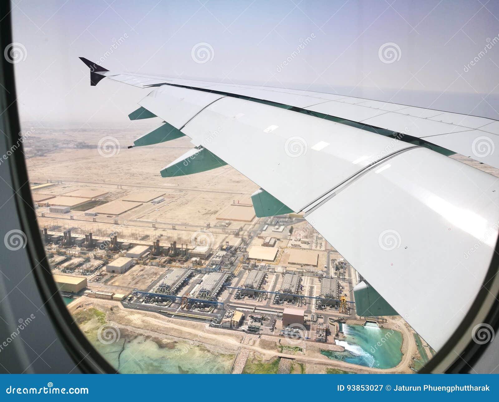 Doha Qatar, Mars 17, 2017 Flyga Med Qatar Airways På Hamad