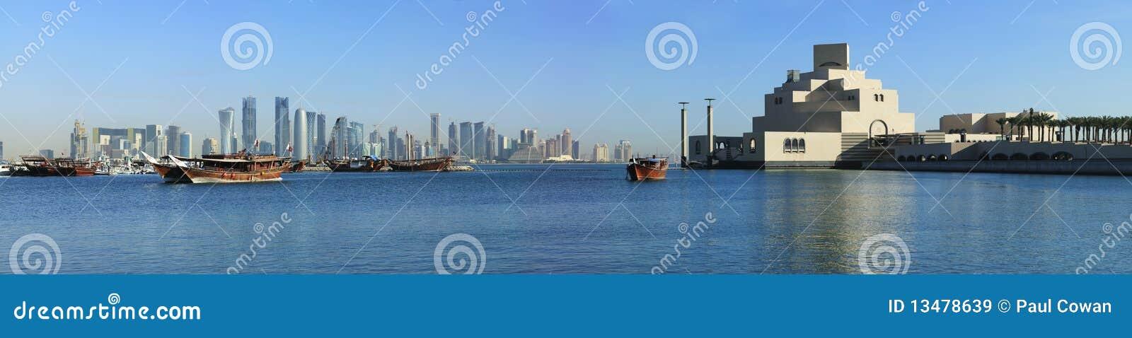 Doha-Skylinedhows und -museum