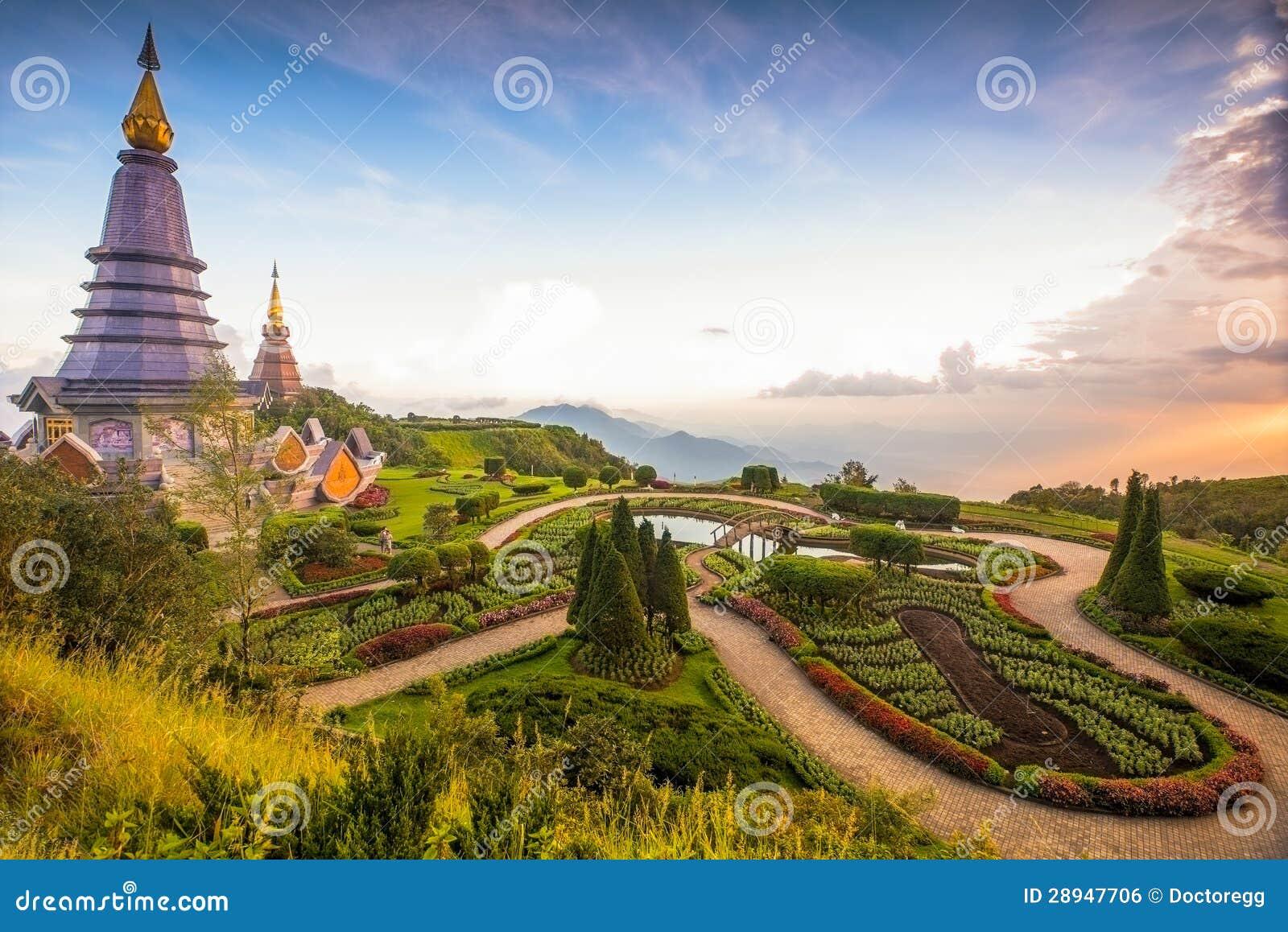 Doi Inthanon, Chiang Mai som är nordligt av Thailand