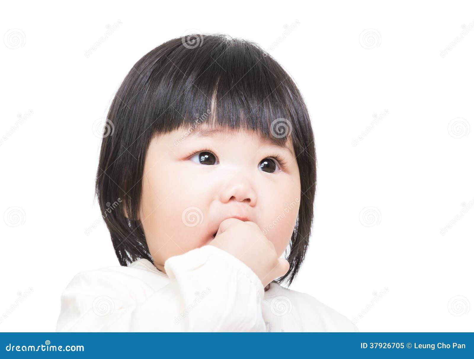 Doigt de peu de bébé