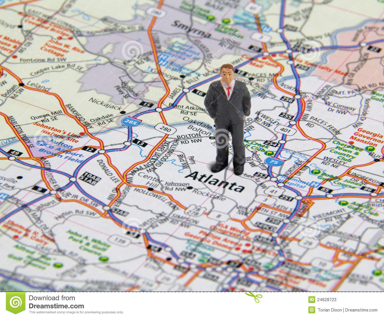 Doing Business In Atlanta Stock Photos Image 24628723