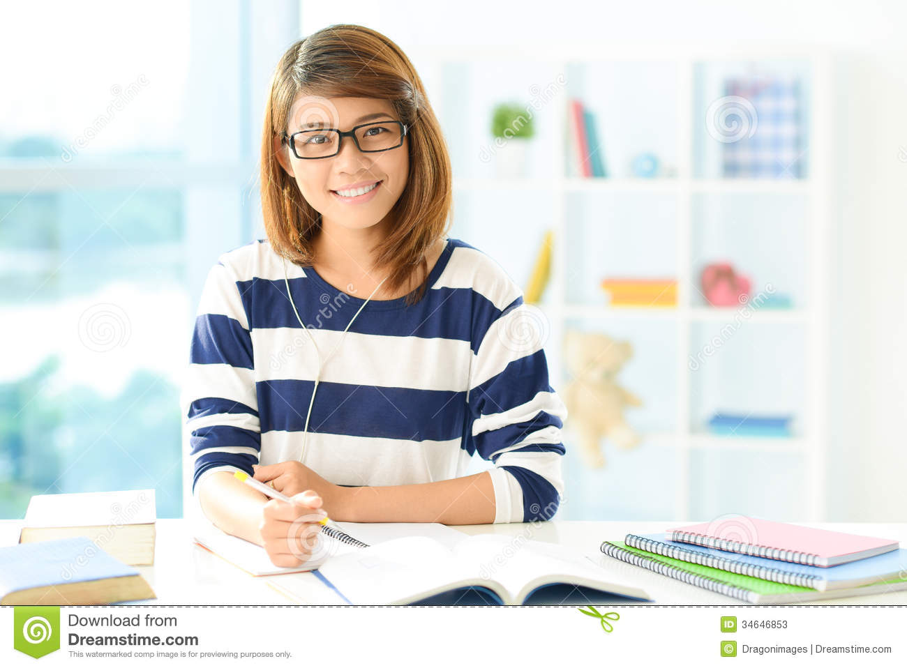 Doing Homework Stock Photos - Image: 34646853