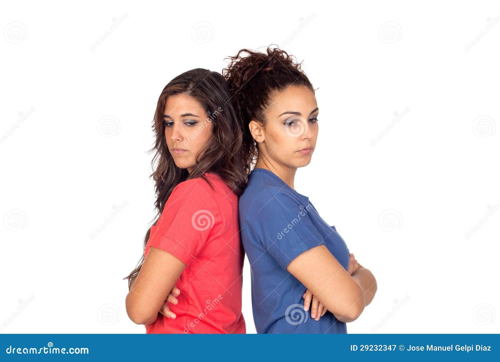 Download Dois amigos que discutem imagem de stock. Imagem de mulheres - 29232347