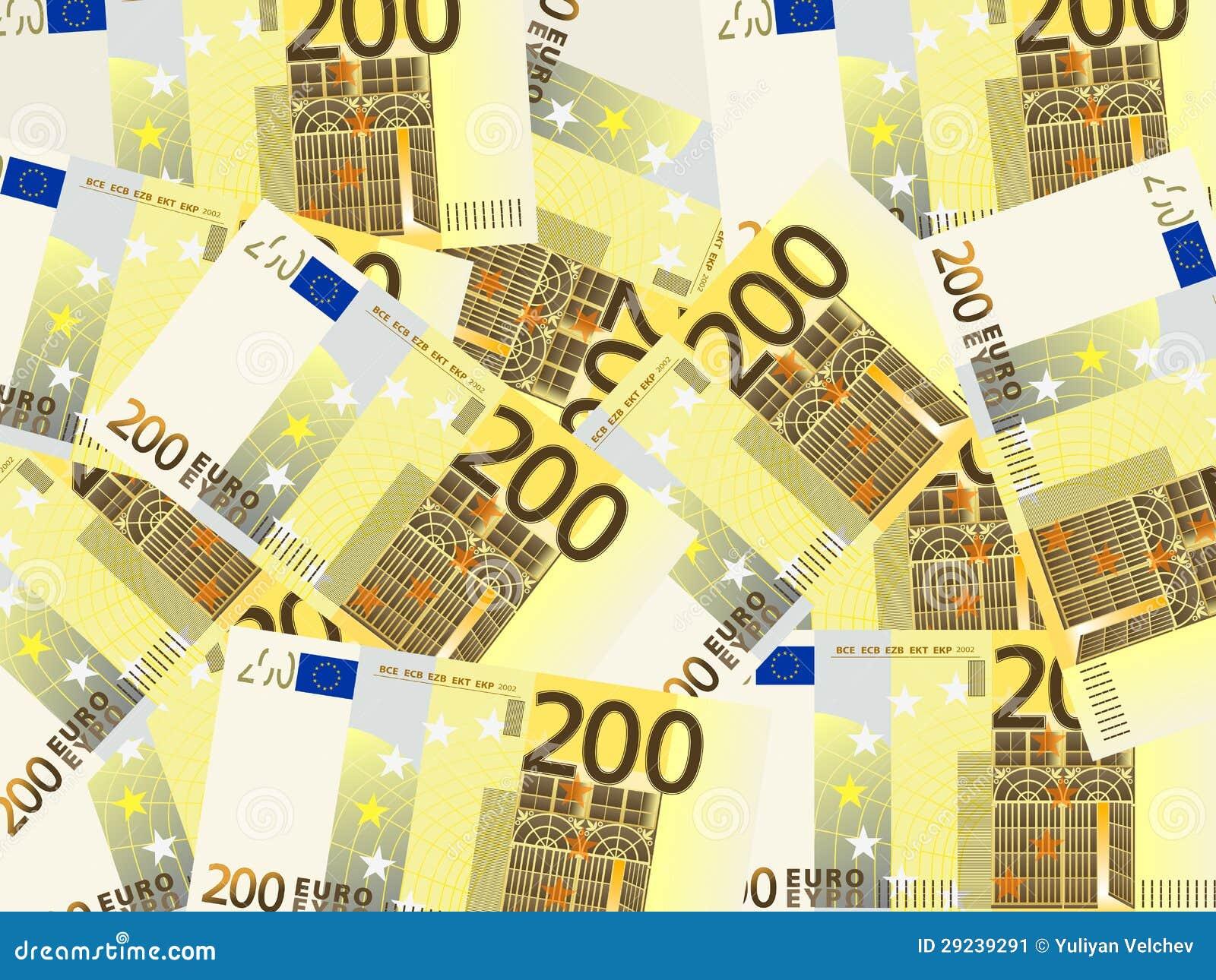 Download Dois cem fundos do euro ilustração do vetor. Ilustração de lucro - 29239291