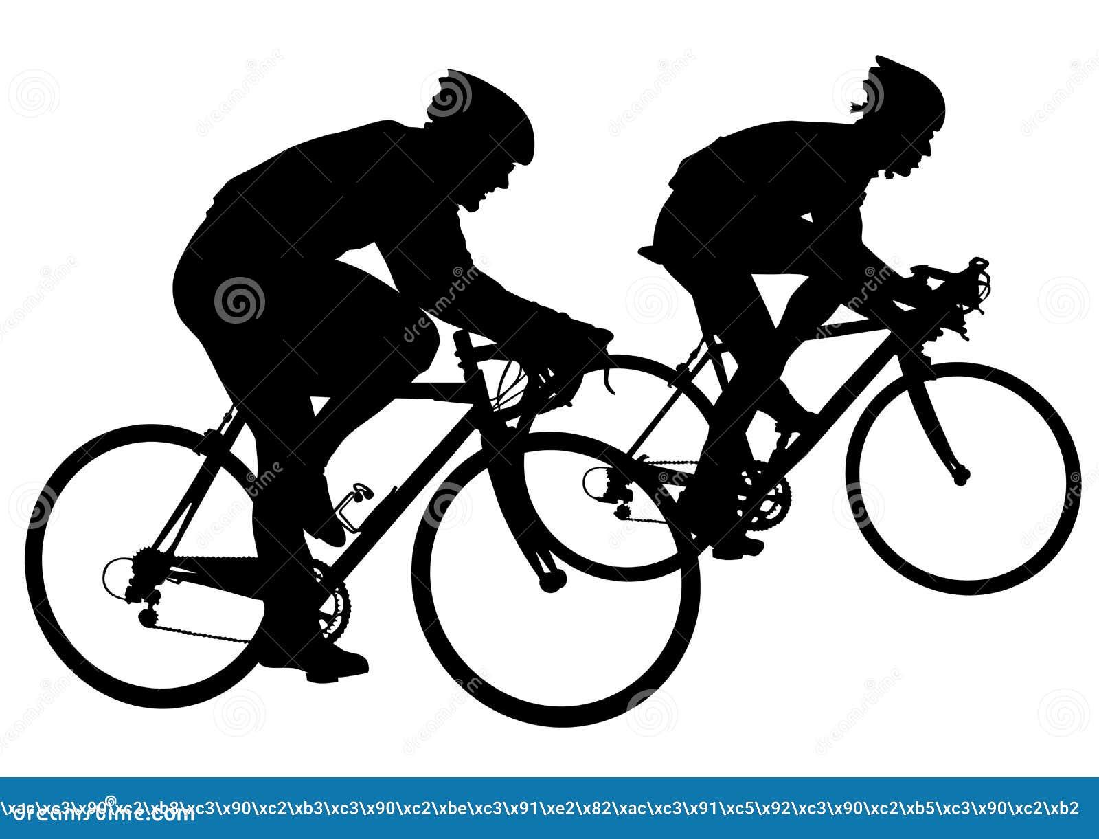 dois ciclistas na competição ilustração do vetor ilustração de