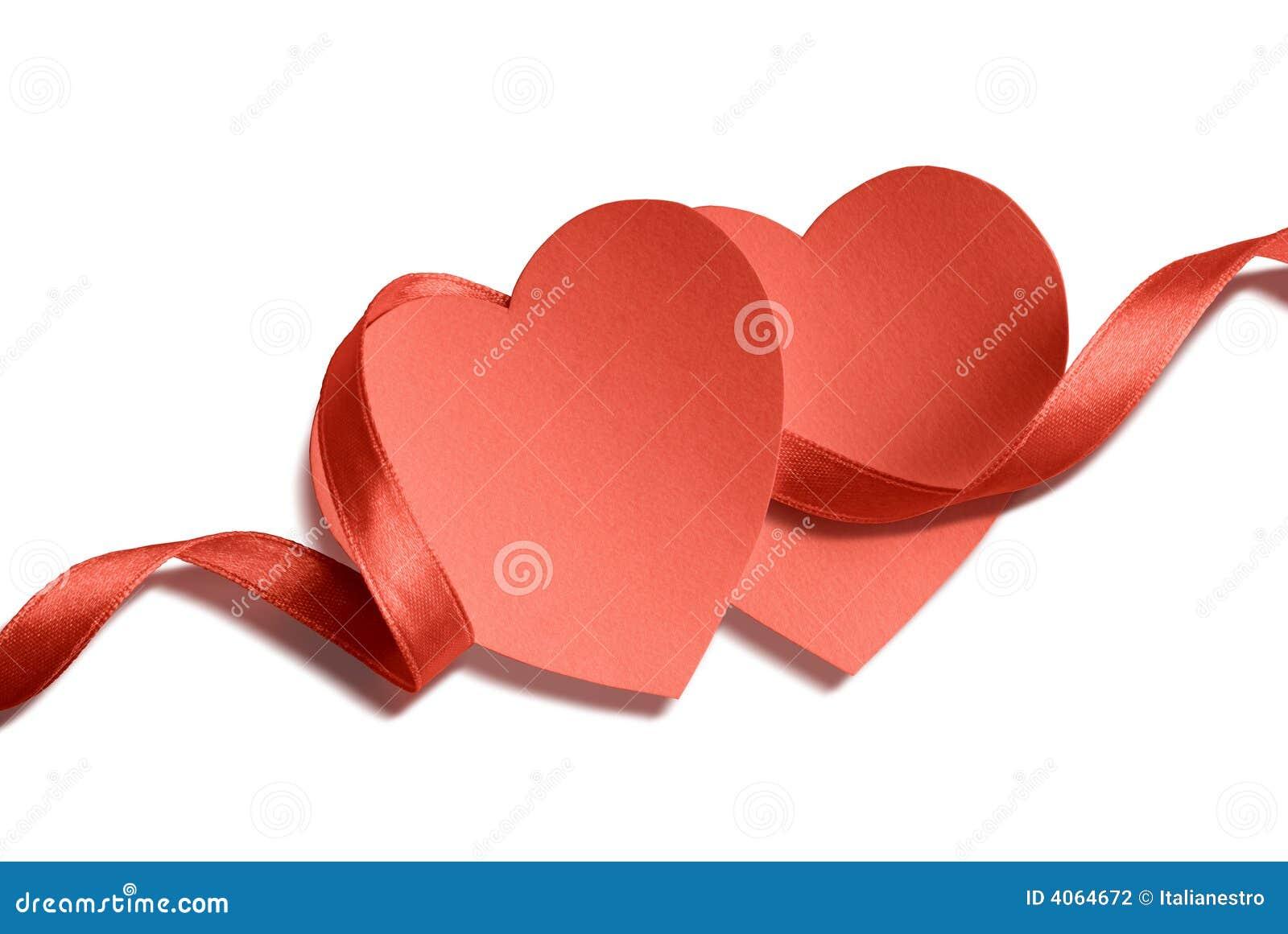 Dois corações e fitas