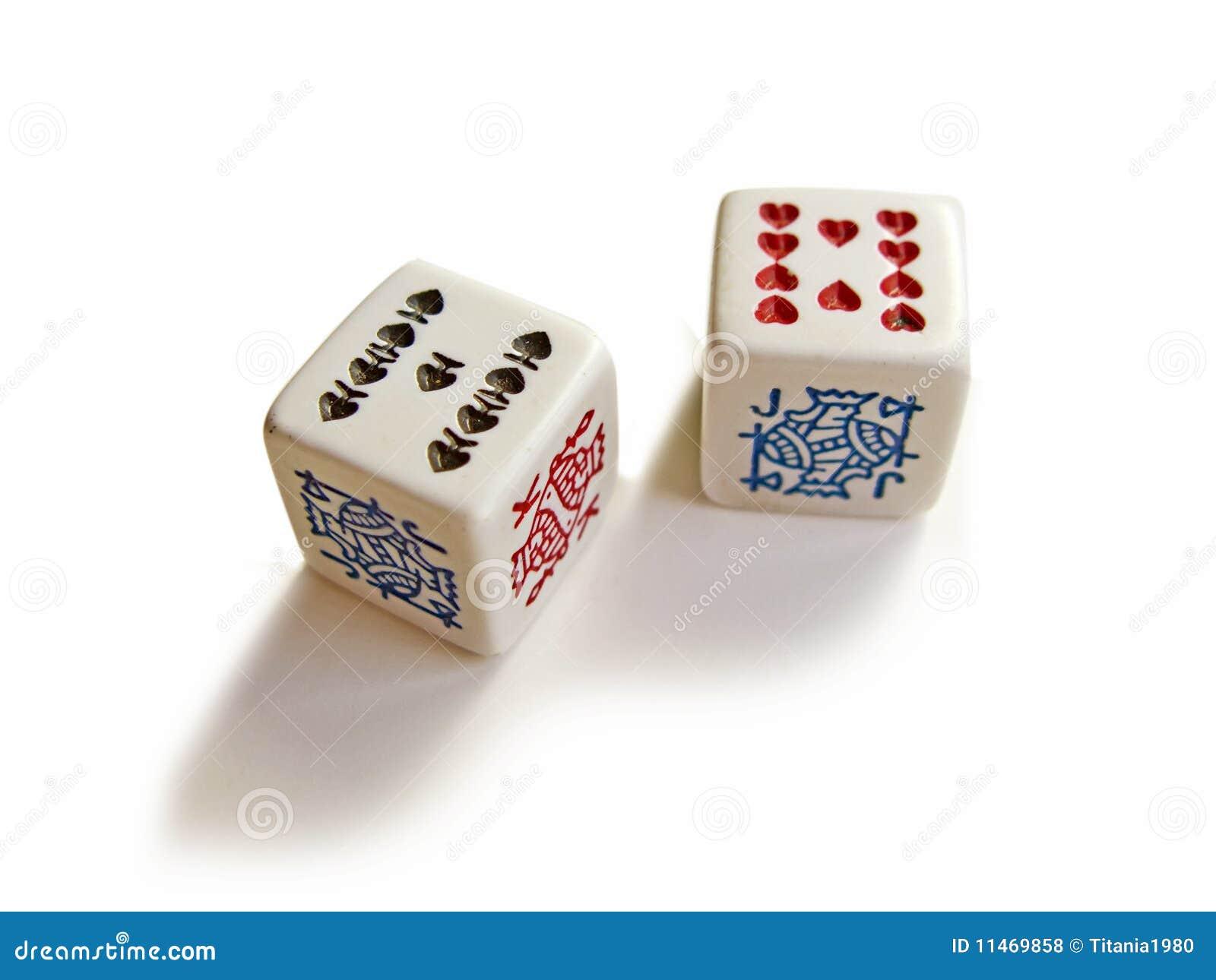 Dois dados do póquer