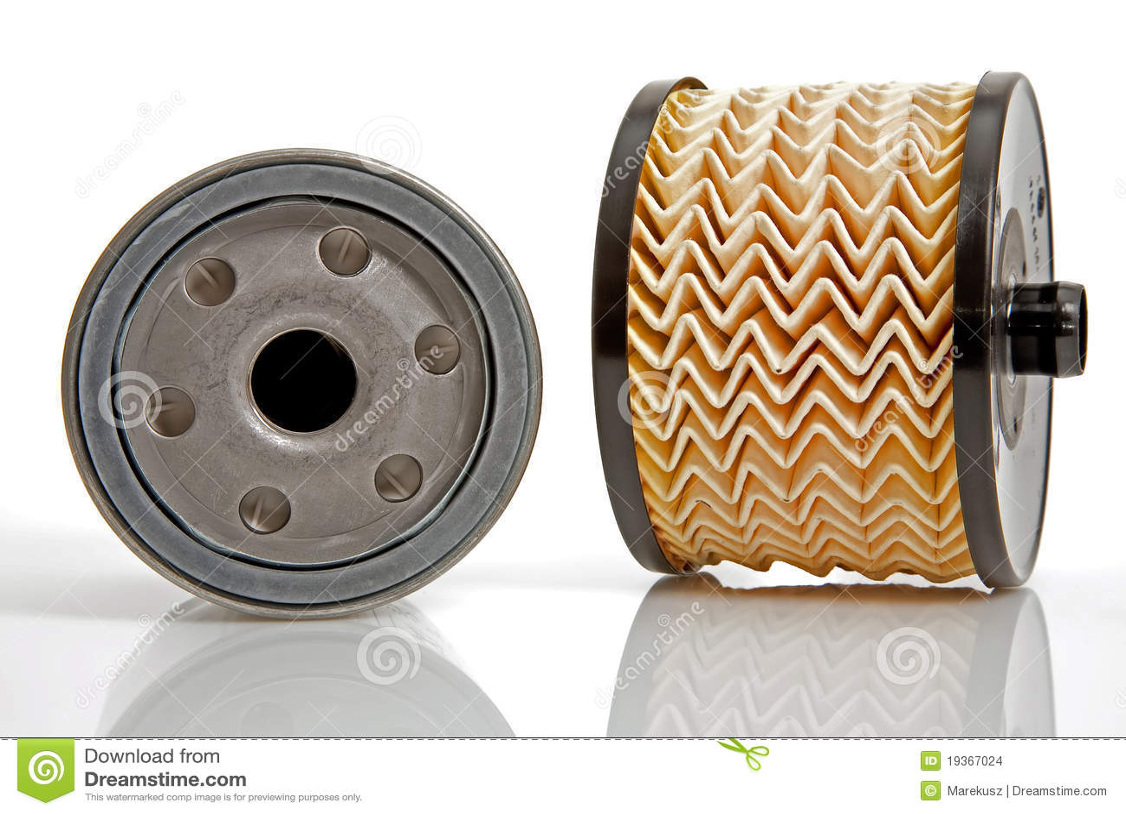 Dois filtros diferentes petróleo e combustível