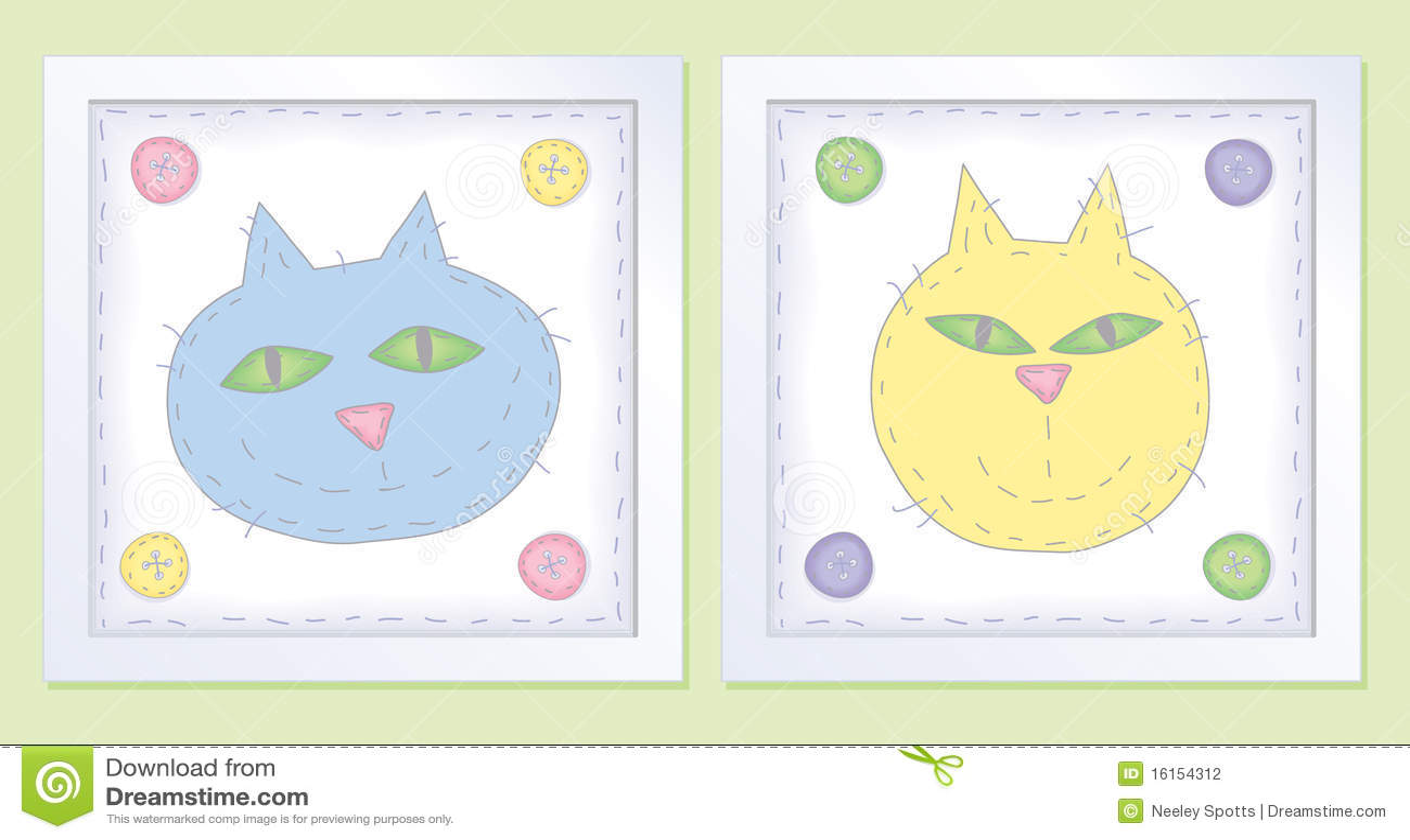 Dois gatos Pastel pequenos