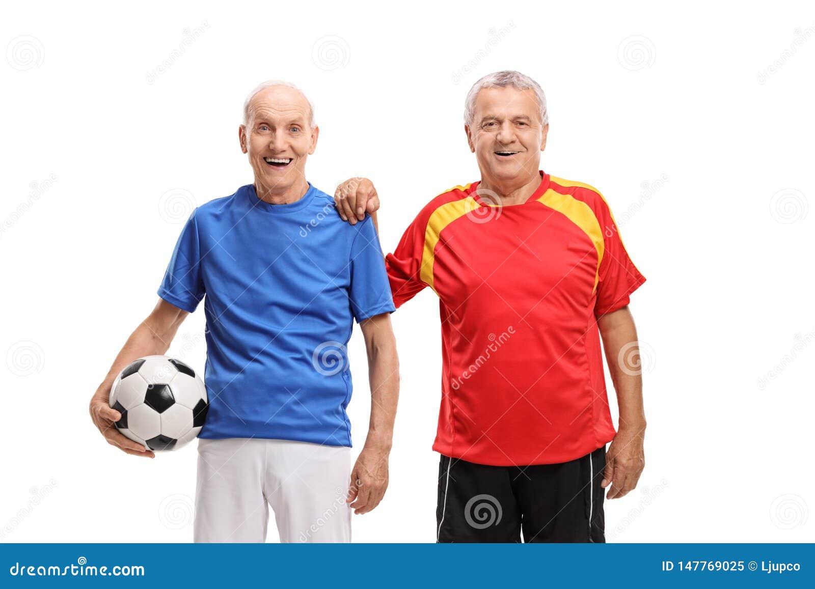 Dois jogadores de futebol idosos
