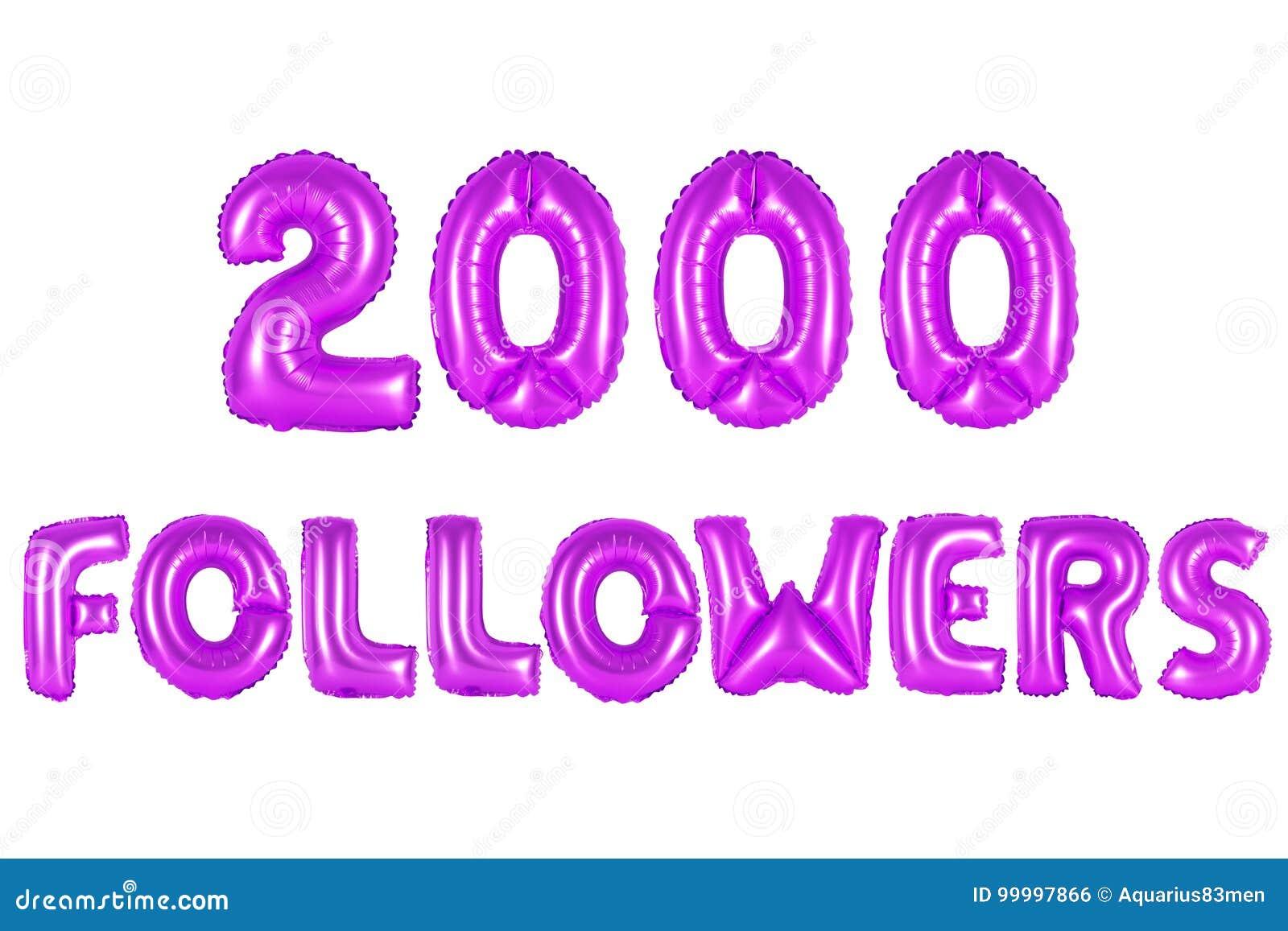 Dois mil seguidores, cor roxa