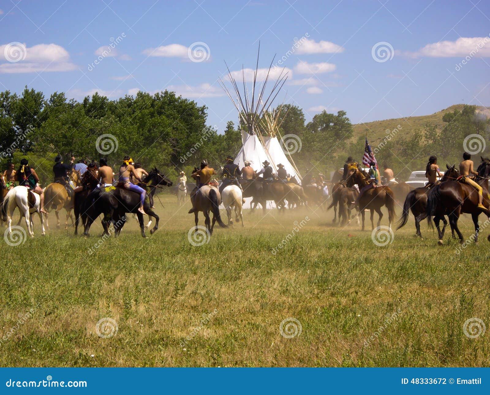 Dois mundos encontram-se na batalha da Re-promulgação do Little Bighorn