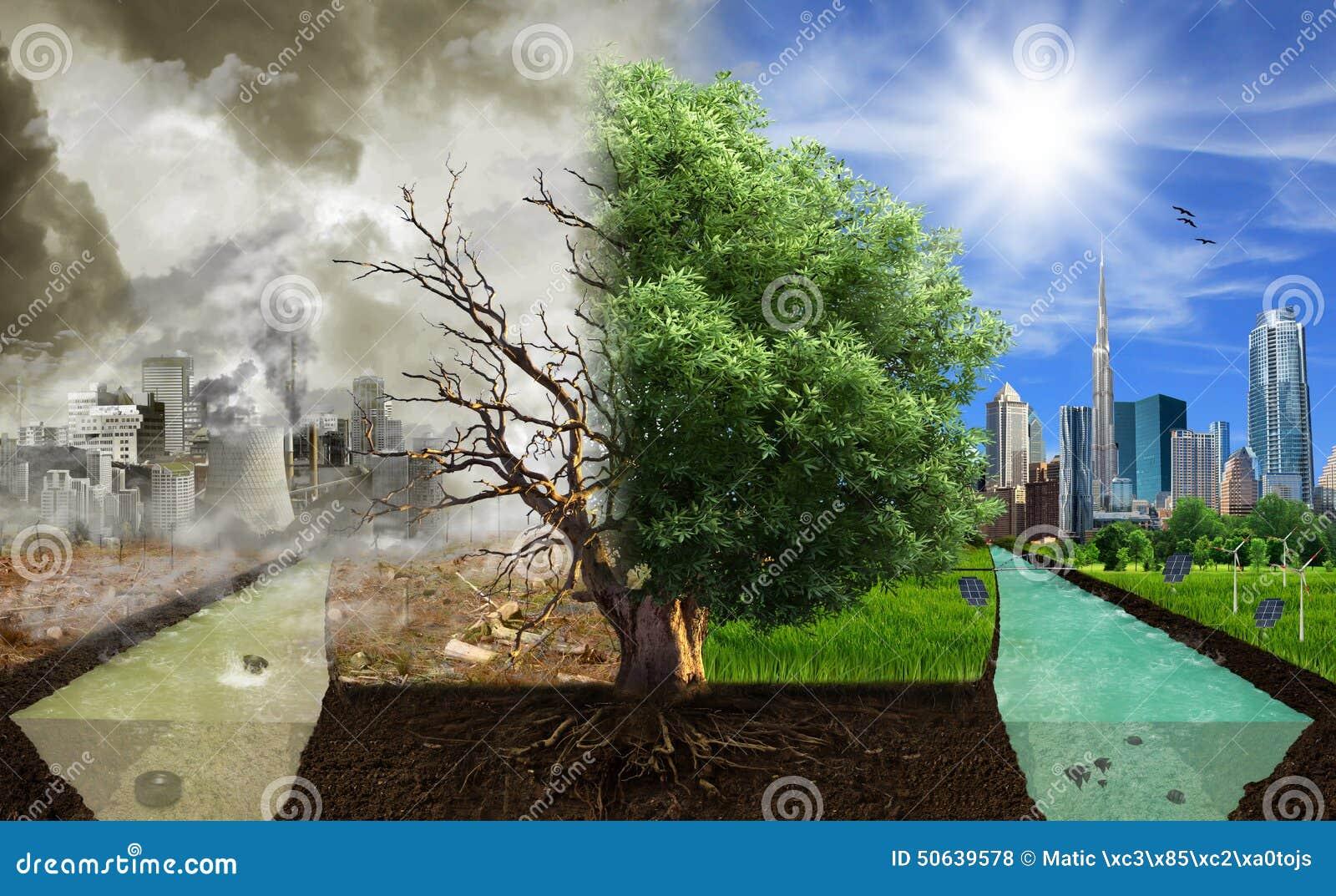 Dois opções/lados, conceito do eco, arte digital do eco