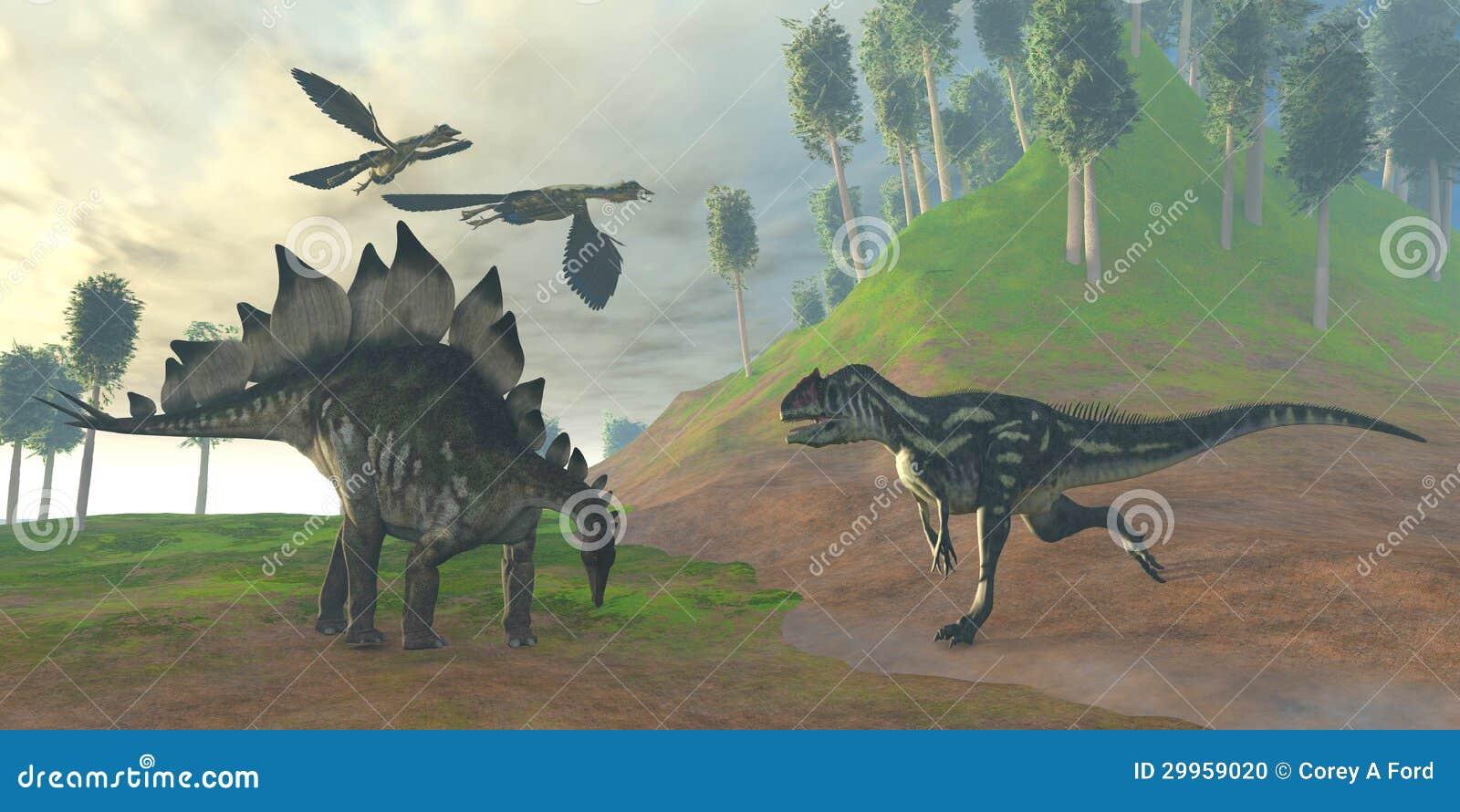 Caça do Allosaurus