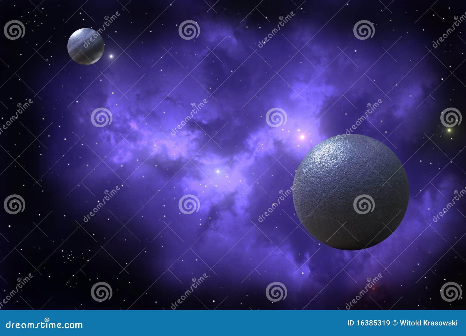 Ilustração Gratis Espaço Todos Os Universo Cosmos: Dois Planetas Ilustração Stock. Ilustração De Cosmos
