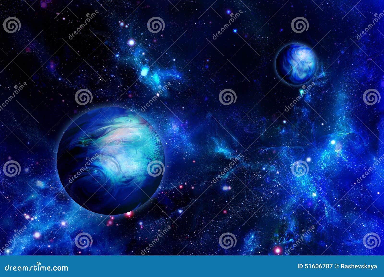 Dois planetas no espaço