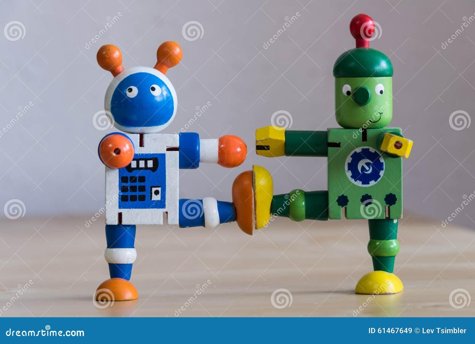 Dois robôs de dança