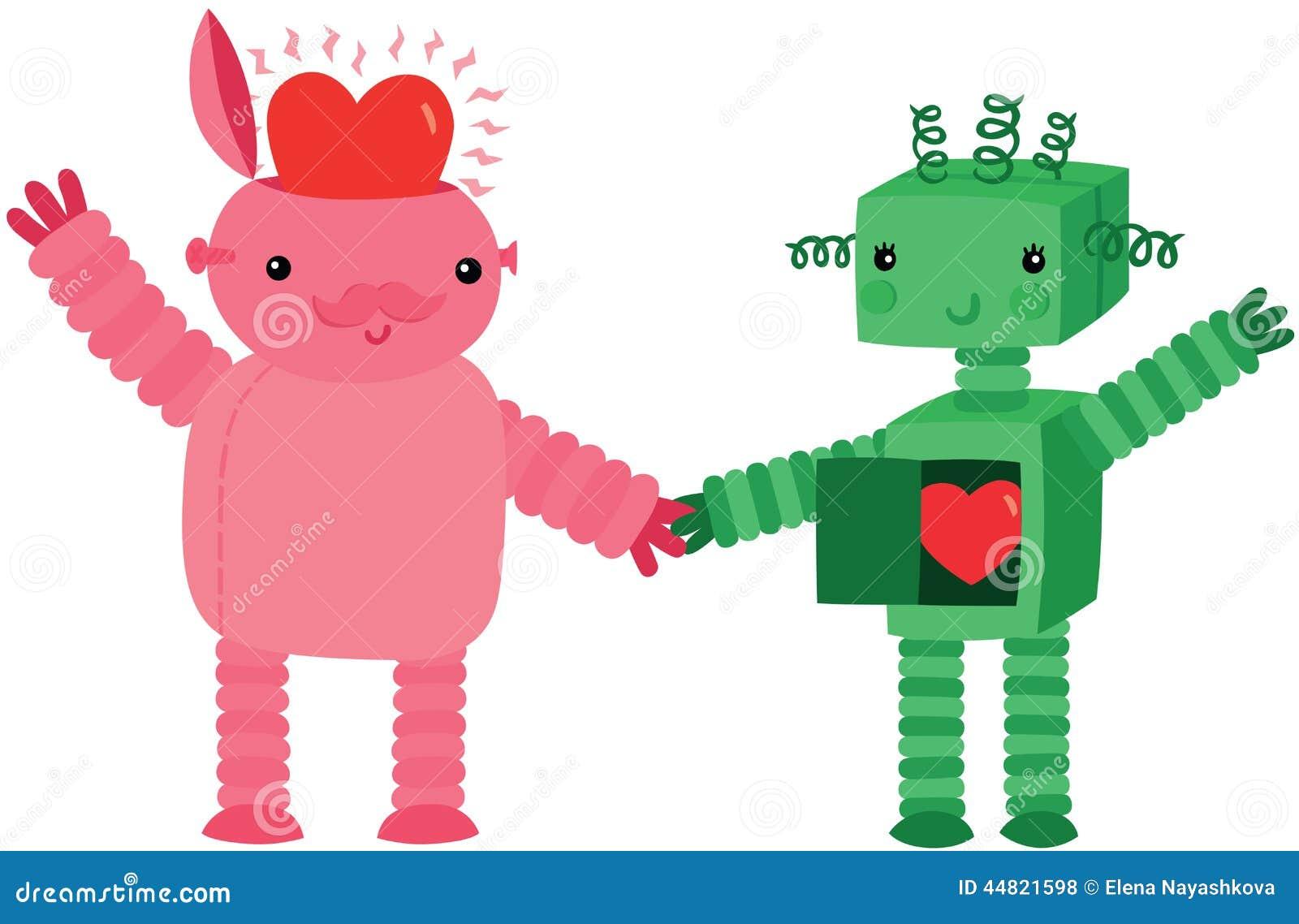 Dois robôs no amor